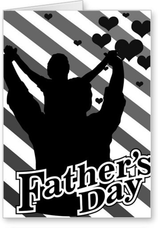 Lolprint Fathers Day Greeting Card(White, Black, Pack of 1)