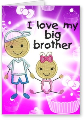 Lolprint I LOVE my Big Brother Rakhi Greeting Card