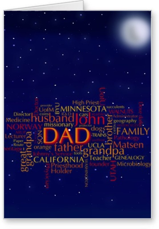 Lolprint Typo Fathers Day Greeting Card(Multicolor, Pack of 1)
