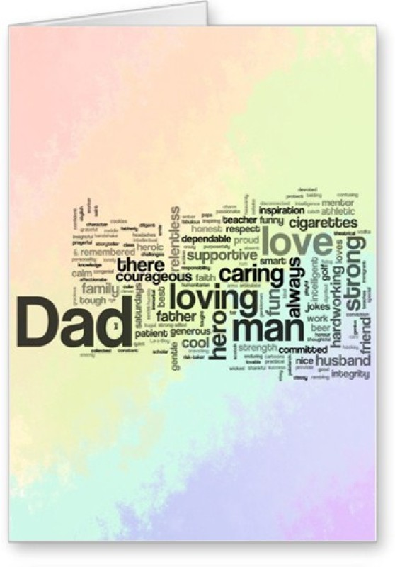 Lolprint Fathers Day Greeting Card(Multicolor, Pack of 1)