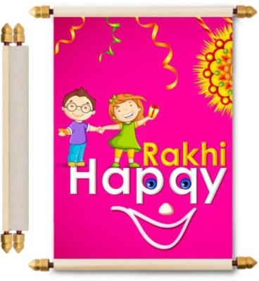 Lolprint Rakhi Gifts Scroll Greeting Card(Multicolor, Pack of 1)