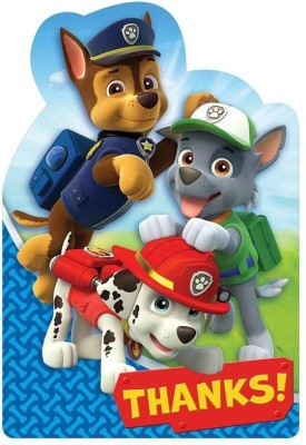 Amscan Amazing Paw Patrol Birthday Postcard Thank You Party Supplies Post Card(Multicolor, Pack of 1)