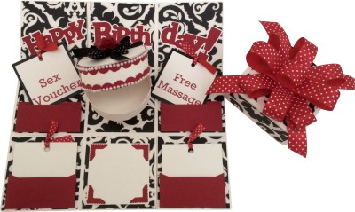 Crack of Dawn Crafts Romantic Handmade Explosion Gift Box Greeting Card
