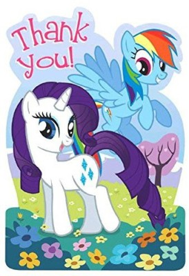 Amscan Charming My Little Pony Friendship Thank You Cards Greeting Card(Multicolor, Pack of 8)