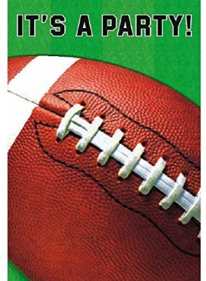 Amscan Football Invitations Invitation Card(Red, Green, Pack of 8)