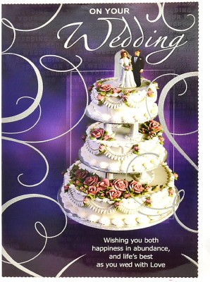 Reliable Three Tier Cake Greeting Card