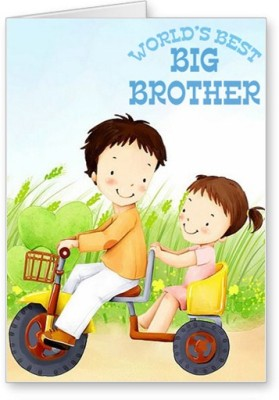 Lolprint Worlds Best Big Brother Rakhi Greeting Card