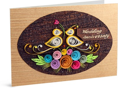 Handcrafted Emotions Wedding Anniversary Greeting Card