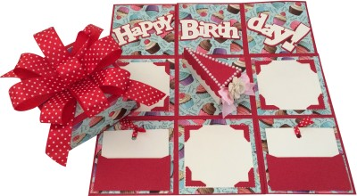 Crack of Dawn Crafts Birthday Handmade Explosion Gift Box - Cake Slice Greeting Card