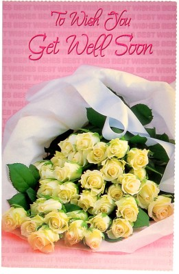 Reliable Sweet Pink Get Well Soon Greeting Card