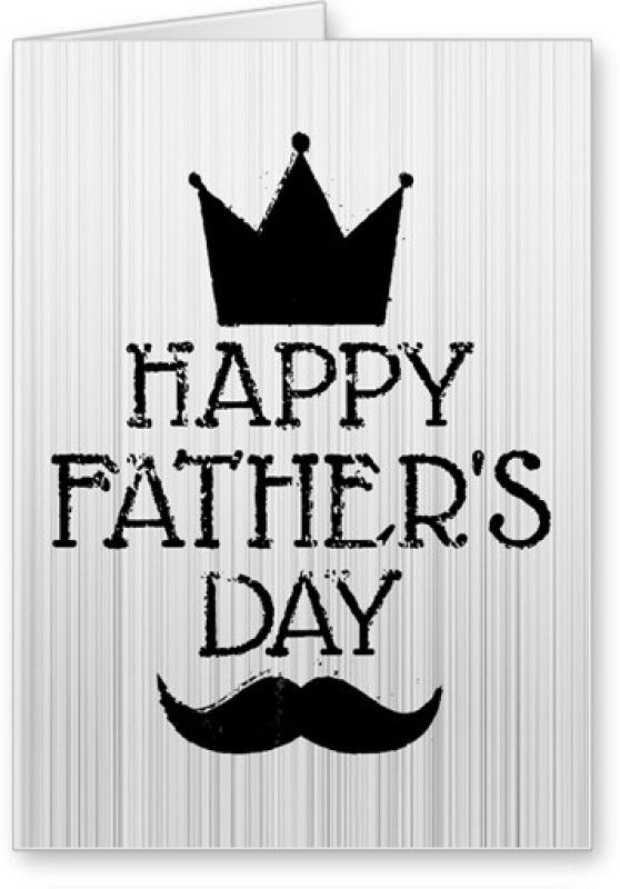 Lolprint Happy Father's Day Greeting Card(Black, White, Pack of 1)