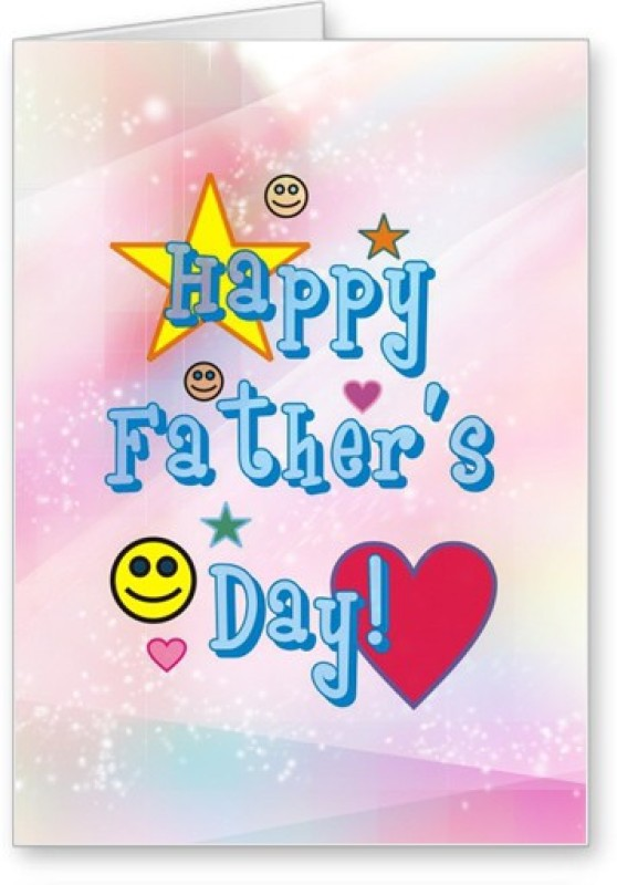 Lolprint Happy Fathers Day Greeting Card(Multicolor, Pack of 1)