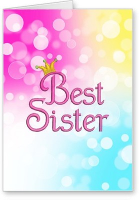 Lolprint Best Sister Rakhi Greeting Card