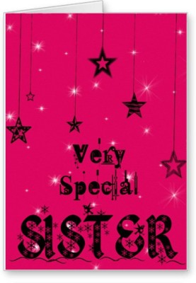 Lolprint Very Special Sister Rakhi Greeting Card