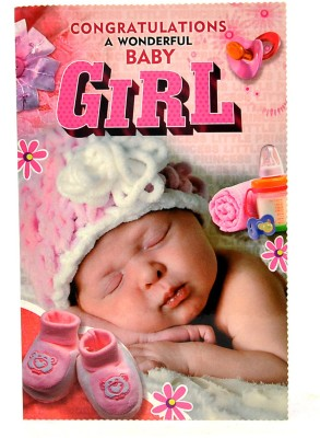 Reliable Unique Baby Girl Greeting Card