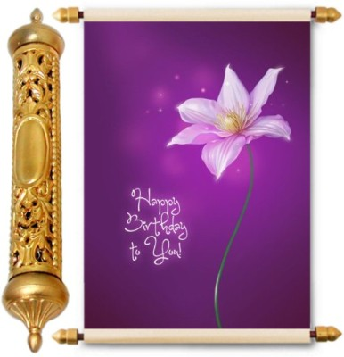 Lolprint Gold Birthday Gift Scroll Greeting Card(Multicolor, Pack of 1)