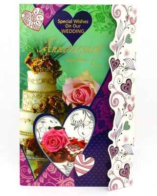 Reliable Gorgeous Green Anniversary Greeting Card