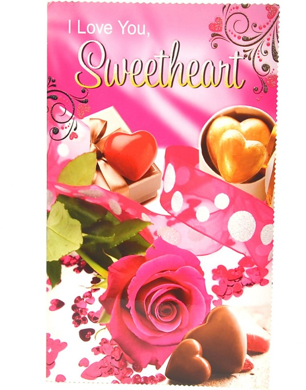 Reliable I Love You Sweetheart Greeting Card(Multicolor, Pack of 1)