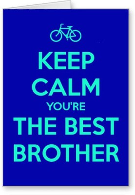 Lolprint Keep Calm Best Brother Rakhi Greeting Card