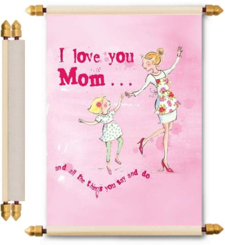 Lolprint Mothers Day Gifts Scroll Greeting Card(Multicolor, Pack of 1)