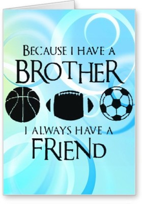Lolprint Sports Brother Rakhi Greeting Card