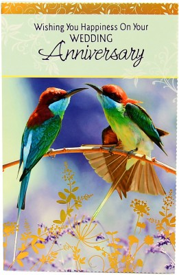 Reliable Beautiful Birds Anniversary Greeting Card