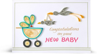 Handcrafted Emotions New Baby Greeting Card