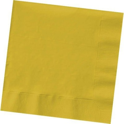 Amscan Yellow Sunshine 2-ply Beverage Napkins Invitation Card(Multicolor, Pack of 50)