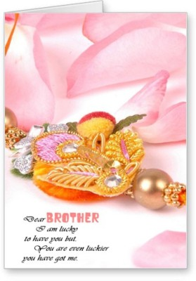 Lolprint Dear Brother Rakhi Greeting Card