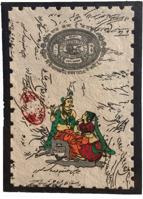 Rstore Handmade Radhe Krishna Print Greeting Card