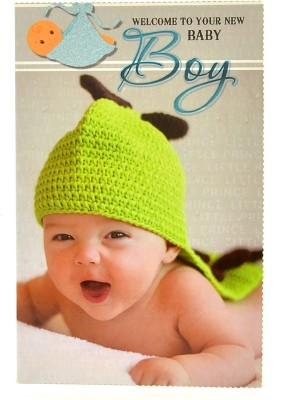 Reliable Baby Boy Welcoming Greeting Card