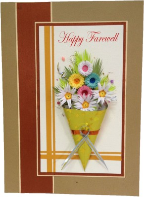 Handcrafted Emotions Farewell Greeting Card
