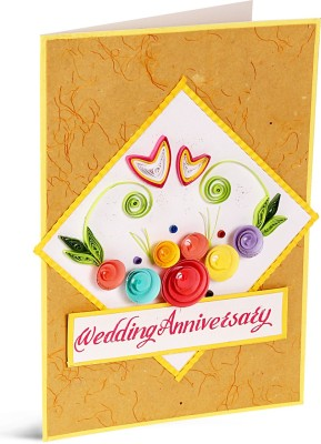 Handcrafted Emotions Anniversary Greeting Card