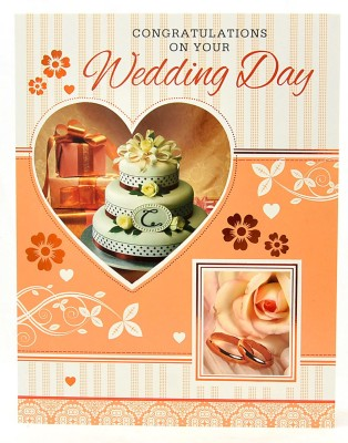Reliable Wedding Day Congratulations Greeting Card