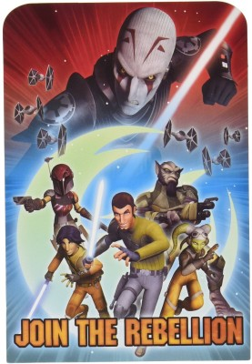 Amscan Exciting Star Wars Rebels Party Postcard Invitations Cards Invitation Card(Multicolor, Pack of 2)