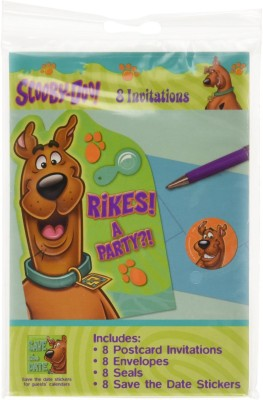 Amscan scooby-doo Invitation Card(Multicolour, Pack of 8)