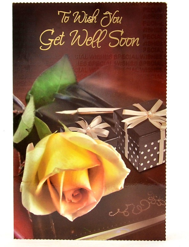 Reliable Single Flower Get Well Soon Greeting Card(Multicolor, Pack of 1)
