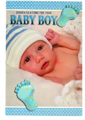 Reliable Charming Baby Boy Greeting Card