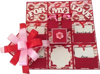 Crack of Dawn Crafts Romantic Hot Lips Handmade Explosion Gift Box Greeting Card