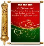 Lolprint Christmas Season Gold Scroll Gr...
