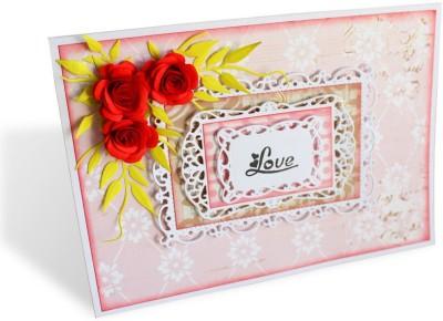 Kraftnation Handmade Paper Flowers Love Greeting Card