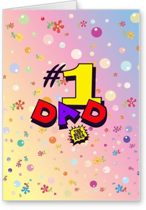 Lolprint No. 1 Dad Fathers Day Greeting Card(Multicolor, Pack of 1)
