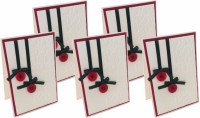 Crack of Dawn Crafts Handmade Button Ornament Embossed Christmas Card - (Pack of 5) Greeting Card(Red, White, Green, Pack of 5) best price on Flipkart @ Rs. 599