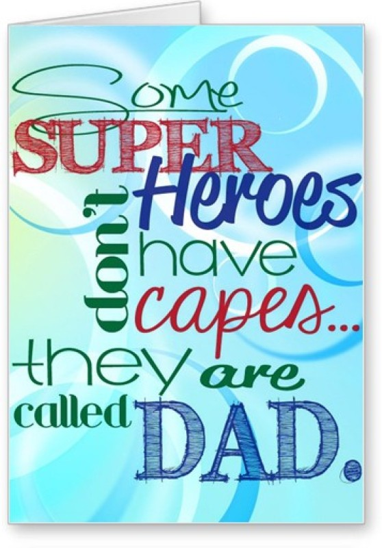 Lolprint Fathers Day Wishes Greeting Card(Multicolor, Pack of 1)