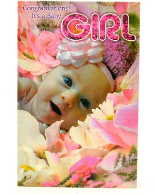 Reliable Sweet Pink Baby Girl Greeting Card