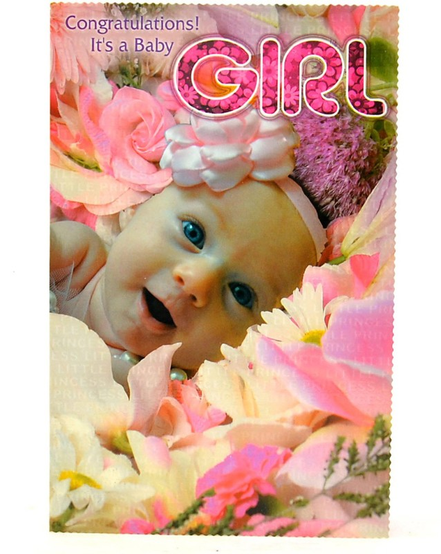 Reliable Sweet Pink Baby Girl Greeting Card(Multicolor, Pack of 1)