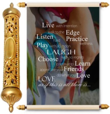 Lolprint Gold Friendship Day Gift Scroll Greeting Card(Multicolor, Pack of 1)