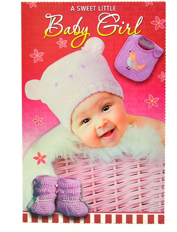 Reliable Cute Baby Girl Greeting Card(Multicolor, Pack of 1)