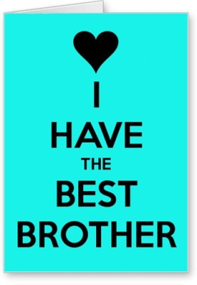 Lolprint Best Brother Rakhi Greeting Card