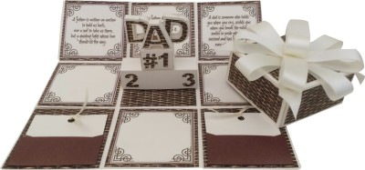 Crack of Dawn Crafts Fathers Day Handmade Explosion Gift Box Greeting Card